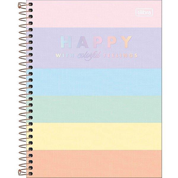 Caderno Colegial Happy Color 1M TILIBRA