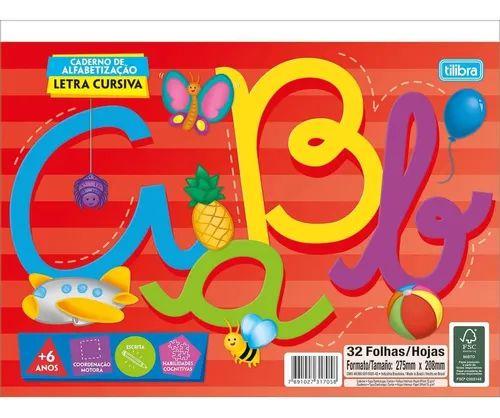 Caderno de Alfabetização - Letra Cursiva TILIBRA