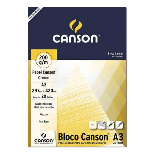 Bloco de Papel CANSON para Desenho A3 Creme 200g