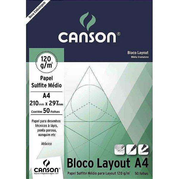 Bloco de Papel CANSON Layout A4 120g Branco
