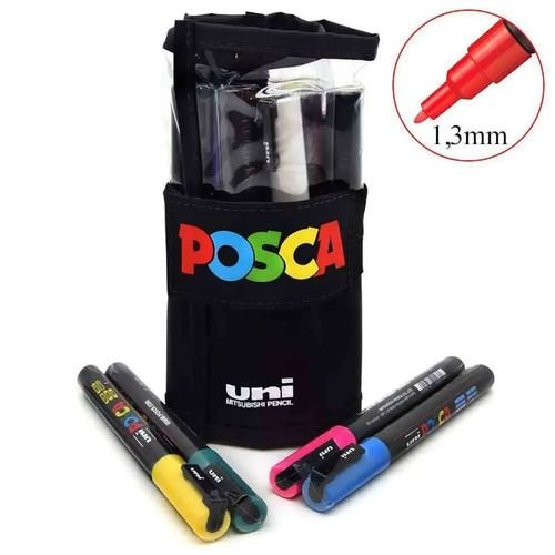 Estojo RollerSet Caneta POSCA 3M  c/12