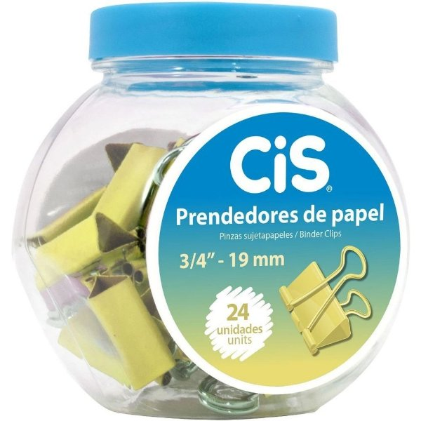 Prendedor CIS Metálico Ouro Pote c/24
