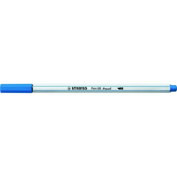Caneta STABILO Brush Pen 68 Azul (41)