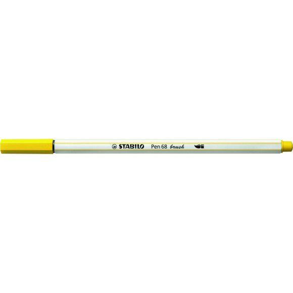 Caneta STABILO Brush Pen 68 Amarela (44)