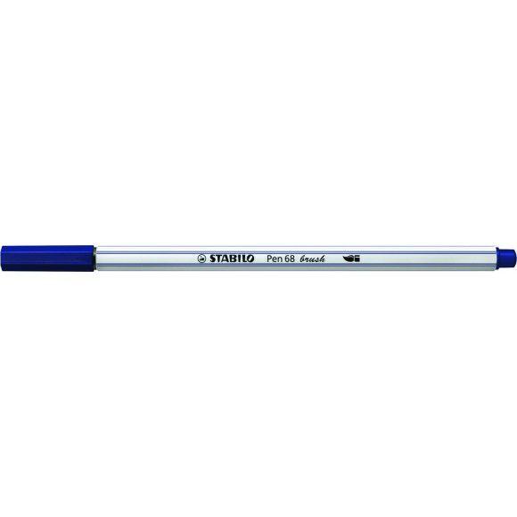 Caneta STABILO Brush Pen 68 Azul Marinho (22)