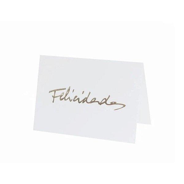 Cartão Fabriano Felicidades Branco TECA