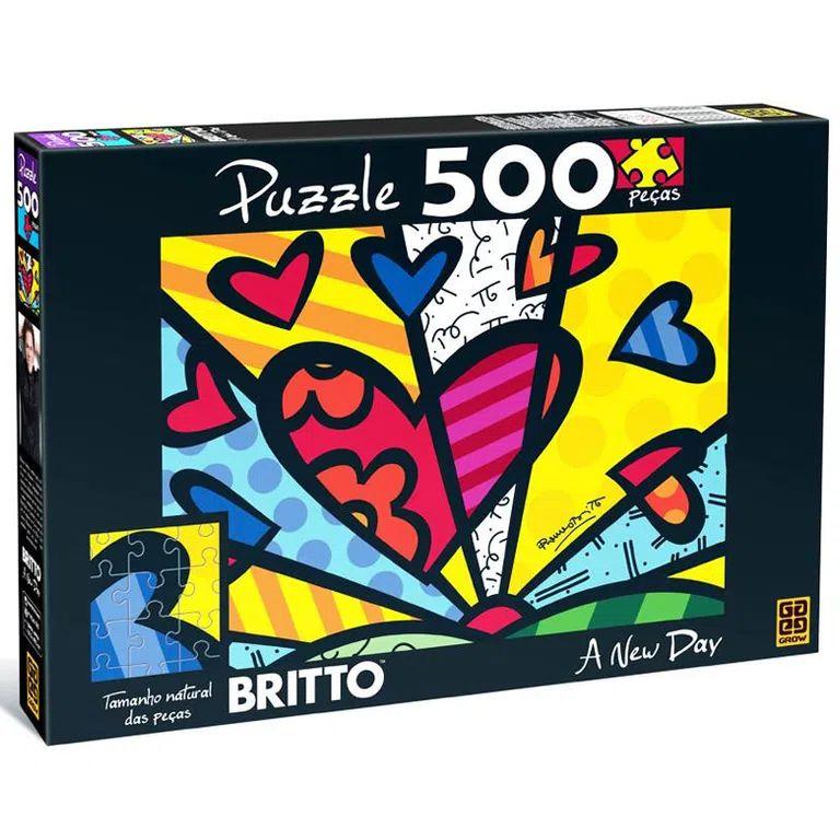 Quebra Cabeça GROW Romero Britto 500 Peças
