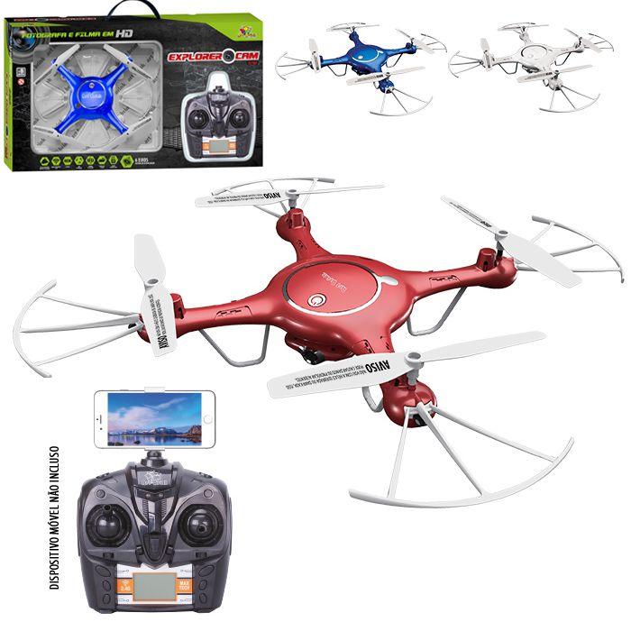 Quadricoptero ISSAM C/Câmera Wifi 4C