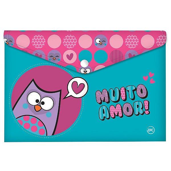Pasta Malote A4 c/Botão Bubu Muito Amor - DAC