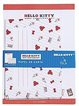 Papel de Carta Hello Kitty 45º Ano - TECA