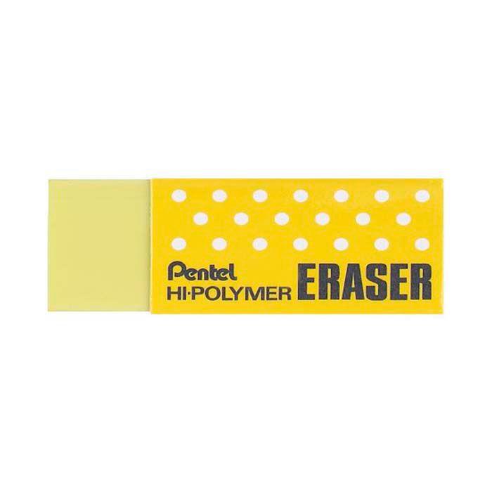 Borracha PENTEL Hi-Polymer Amarela