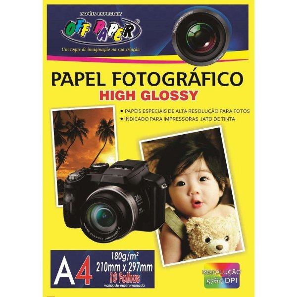 Papel Fotográfico OFF PAPER A4 180g 10fls