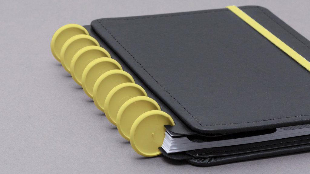 Discos + Elástico Amarelo Cerrado G para CADERNO INTELIGENTE