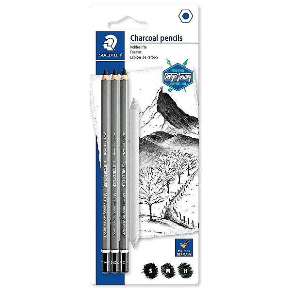Lápis Carvão STAEDTLER Charcoal Pencils