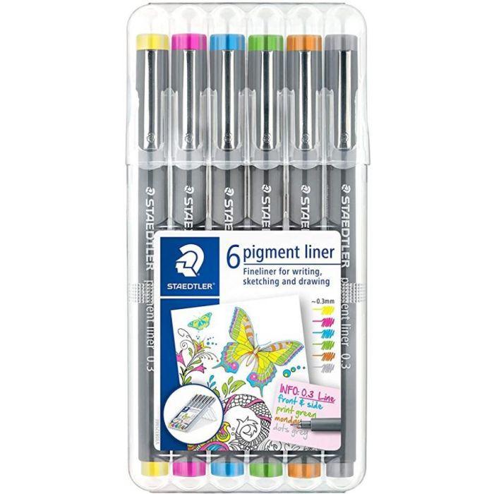 Kit STAEDTLER Pigment Liner c/6