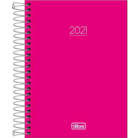 Agenda 2021 TILIBRA Pepper Espiral Rosa M4