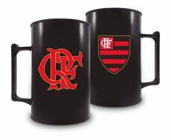 Caneca Acrílica Fumê 400ml - Flamengo BRASFOOT