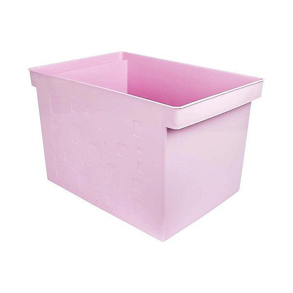 Caixa Multiuso Larga Rosa Pastel DELLO
