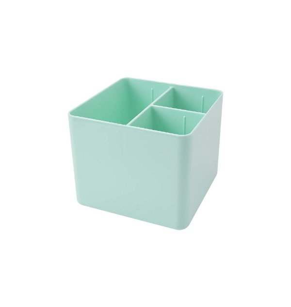Porta Objetos Verde Pastel c/ 3 Divisórias DELLO