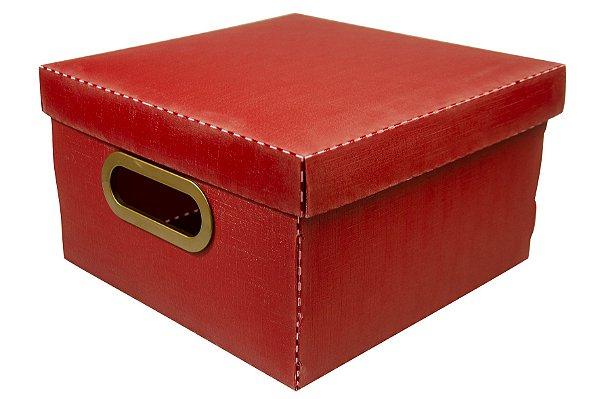 Caixa Organizadora Linho Pequena Vermelha DELLO