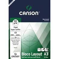 BLOCO LAYOUT TECNICO A3 20FLS 180GM2 CANSON