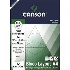 BLOCO LAYOUT TECNICO A4 20FLS 180GM2 CANSON