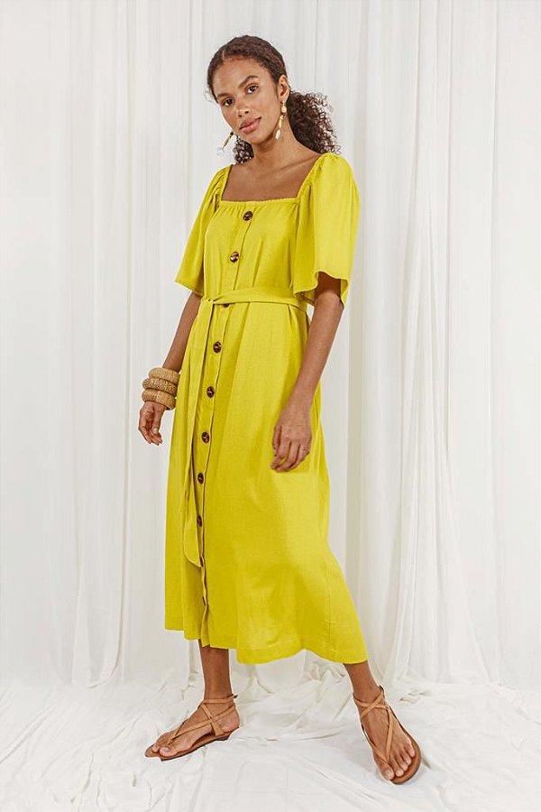 Vestido cropped Samanta lemon