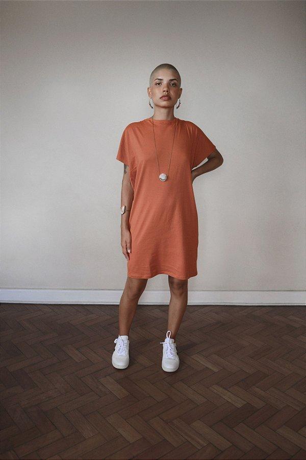 Vestido camiseta malha