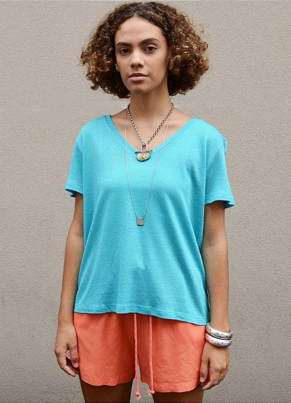 Camiseta de linho lisa