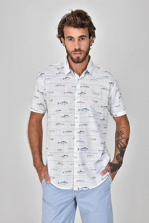 Camisa Manga Curta Peixaria