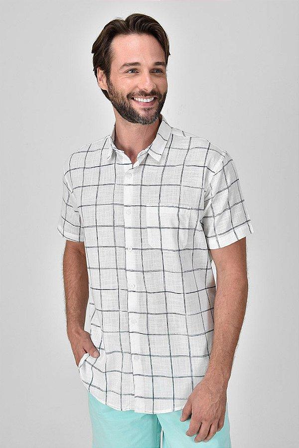Camisa Manga Curta Tartan