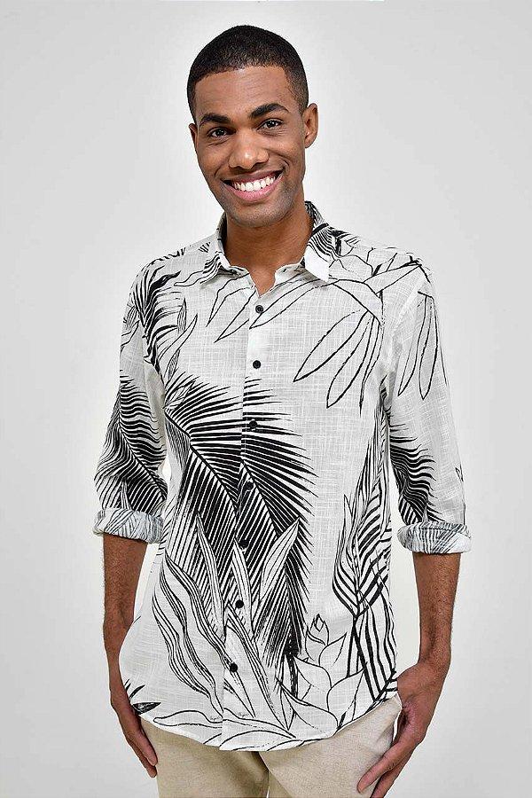 Camisa Manga Longa Folhas