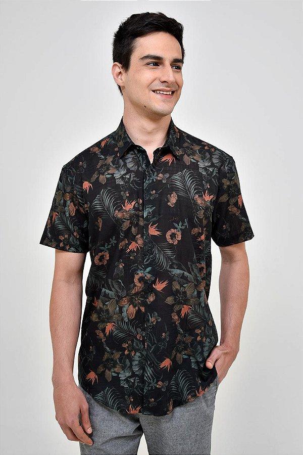 Camisa Manga Curta Hawaii