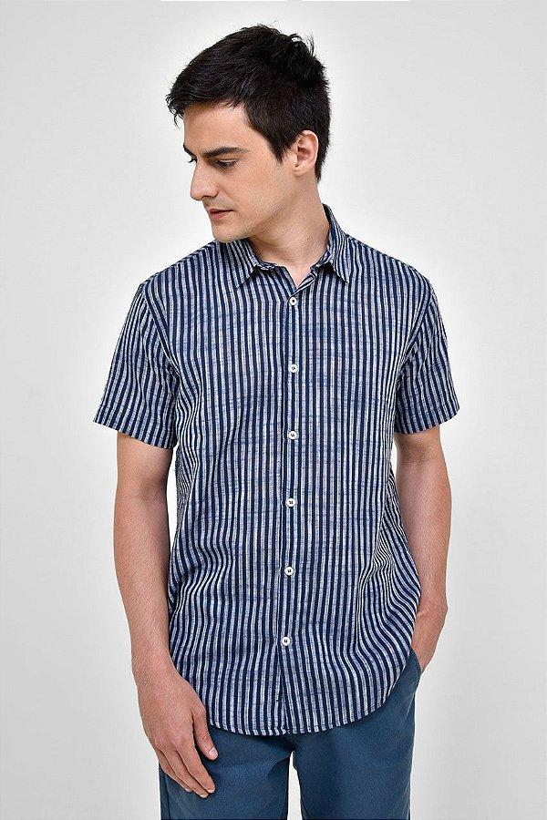 Camisa Manga Curta Deep Blue