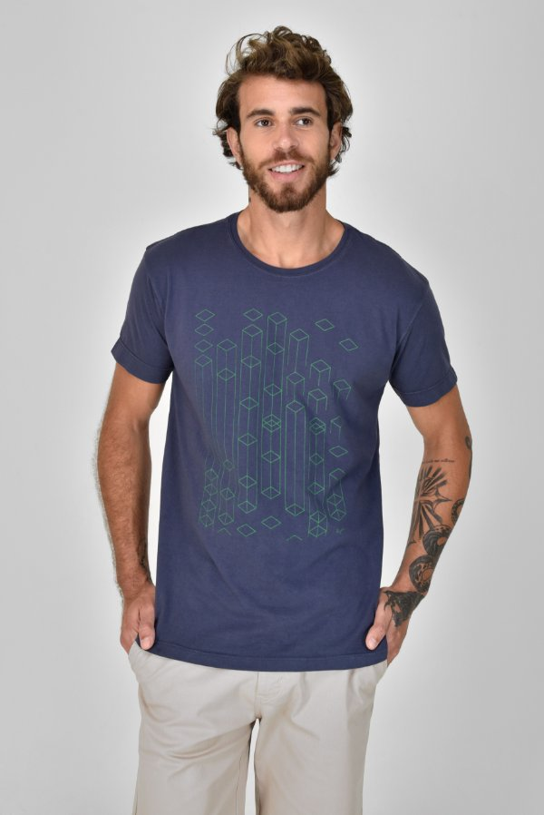 T-shirt Silk Estruturas