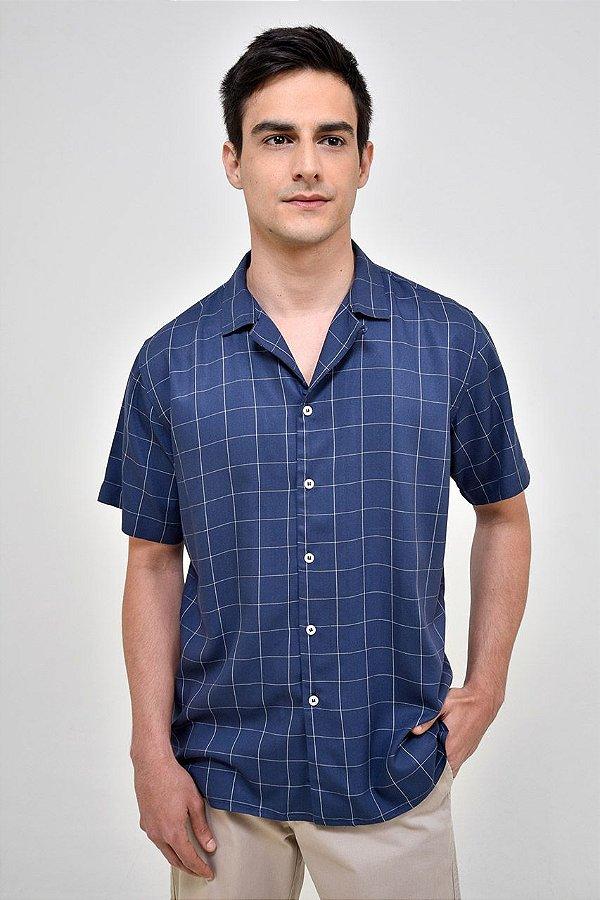 Camisa Manga Curta Praia Grid