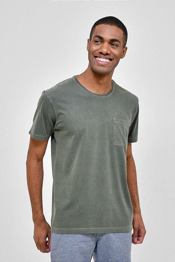T-shirt Básica Estonada Verde