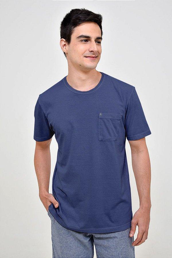 T-shirt Básica Estonada Marinho