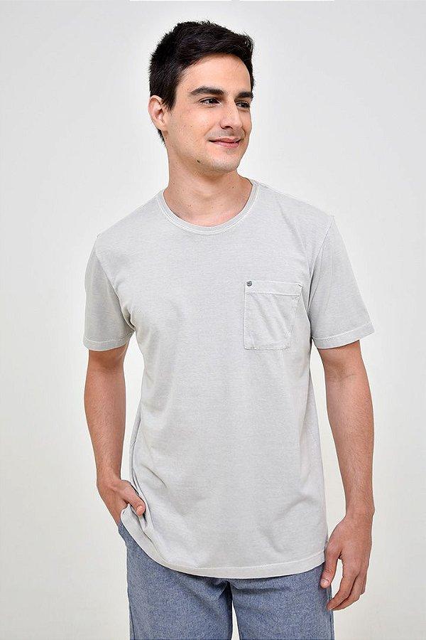 T-shirt Básica Estonada Gelo