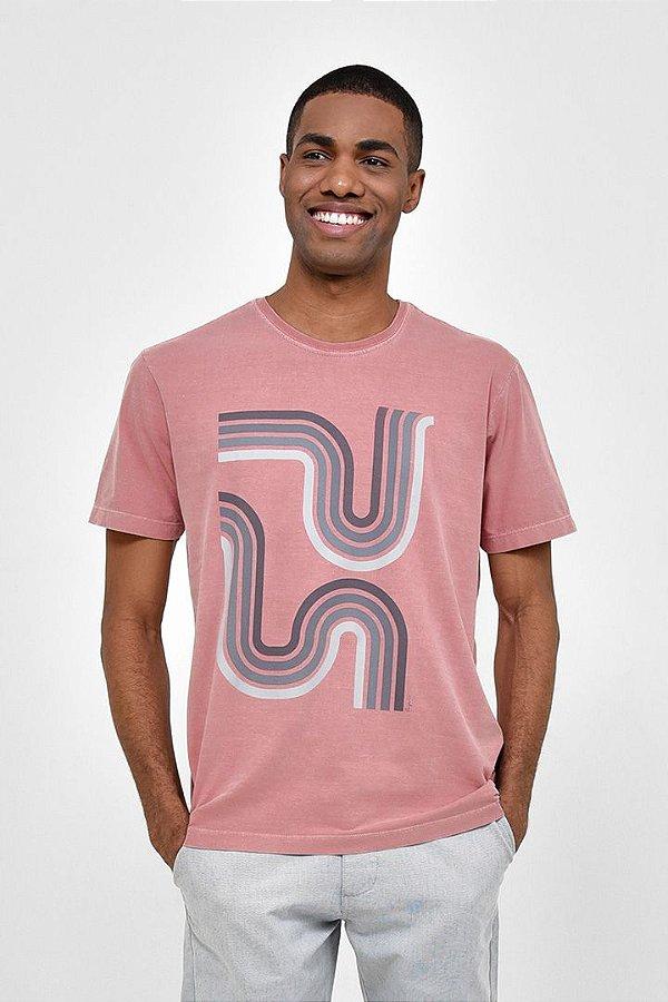T-shirt Silk Geométrica