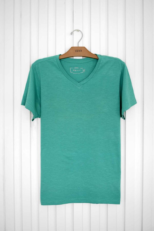 T-shirt V Básica Verde