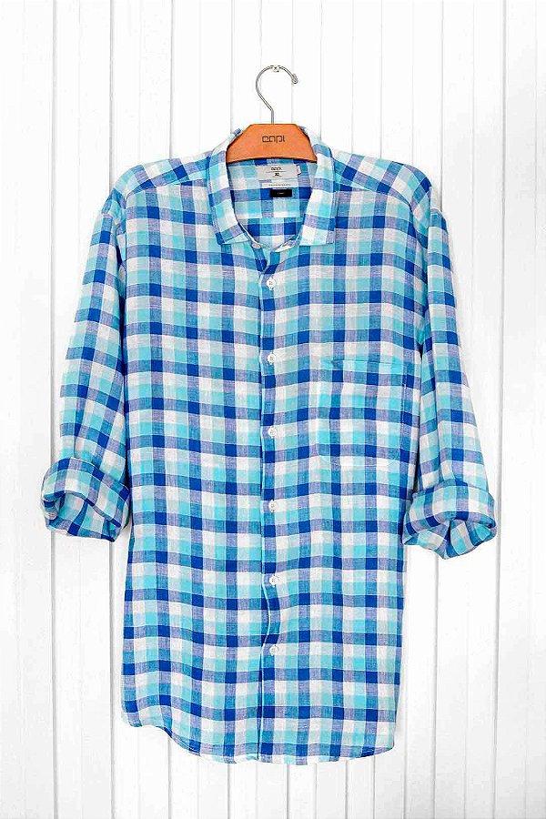 Camisa Linho Xadrez
