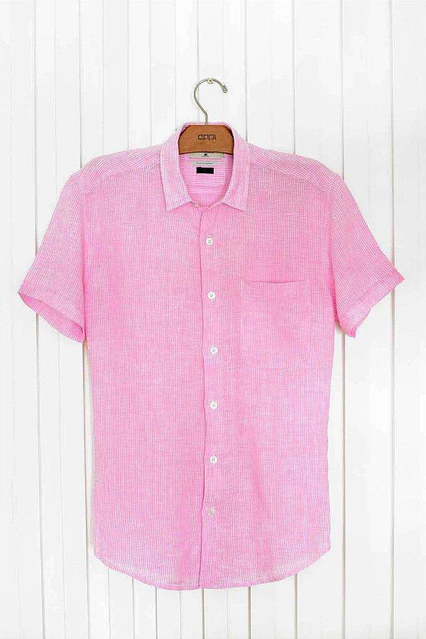 Camisa Linho M/c Color