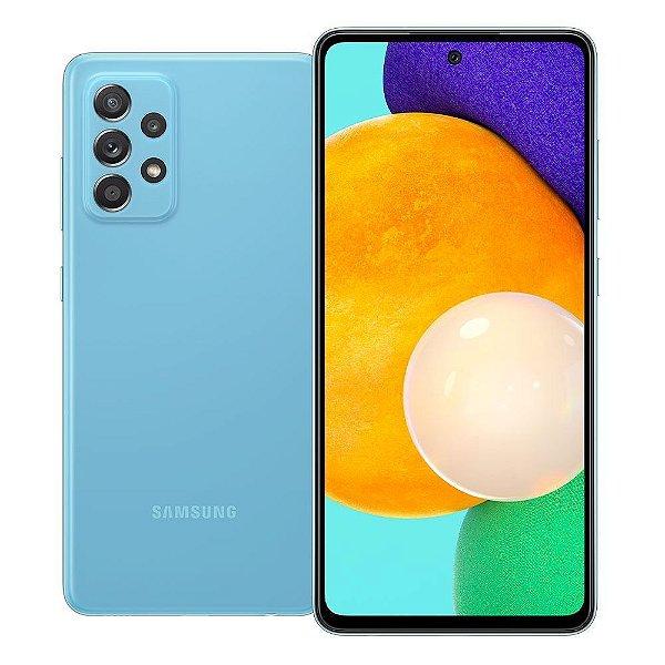 Celular  Samsung Galaxy A52 128GB 4G Wi-Fi Tela 6.5'' Dual Chip 6GB RAM Câmera Quádrupla + Selfie 32MP - Azul