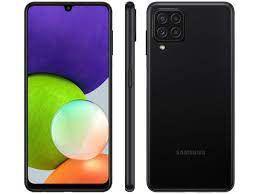Celular Samsung Galaxy A22 128GB 4G Wi-Fi Tela 6.4'' Dual Chip 4GB RAM Câmera Quádrupla + Selfie 13MP - Preto
