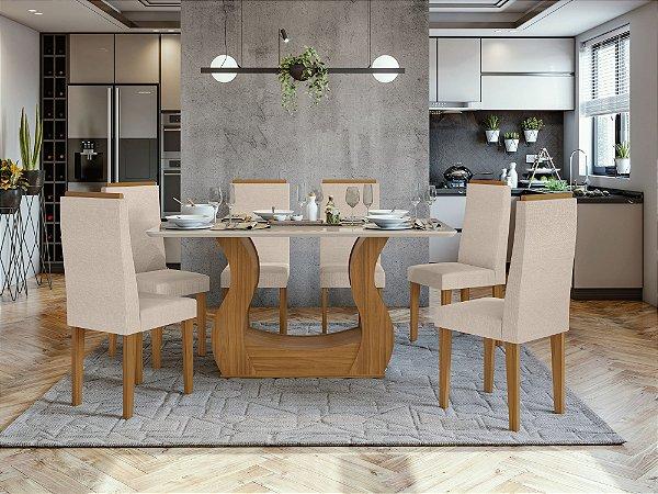 Sala de Jantar Dafne 160 x 080 c/ 6 Cadeiras Dafne