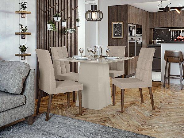 Sala de Jantar Nevada Slim 100 x 100 c/ cadeira Odara