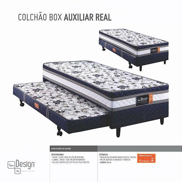 COLCHOBOX C/ AUXILIAR SOLTEIRO DESIGN 88X188X54CM