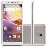 Smartphone MS50G 3G 5,5 Pol. RAM 1GB Câmera 8MP+5MP Android 8.1 Bluetooth 8GB Dourado/Branco Multilaser - NB731