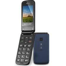 Celular Flip Multilaser Vita Dual Chip MP3 Azul - P9020